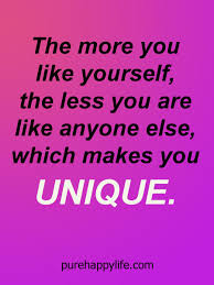 Inspirational Quotes About Yourself Mesmerizing Positive Quote The More You Like Yourself The Less You Are Like
