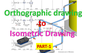 Isometric Pipe Design Piping Draw Isometric Drawing From Orthographic Drawing