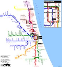 chicago  heavy rail  cta map
