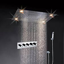 flush mounted rain shower head. cascada classic design 31 inch (600mmx800mm) large rain shower set with waterfall led rectangle flush mounted head d