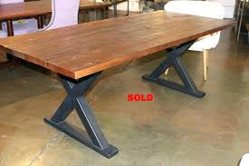 round wood and metal dining table metal dining table base full size of metal dining round wood