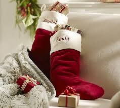 red velvet christmas stockings. Perfect Red And Red Velvet Christmas Stockings