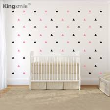 120 pieces set triangles vinyl wall stickers colorful decals diy nursery wall art sticker for on colorful wall art for nursery with 120 pieces set triangles vinyl wall stickers colorful decals diy