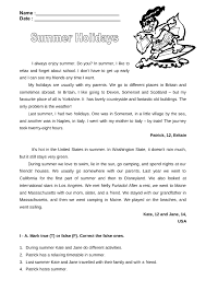summer activities worksheets and creative lesson ideas summer holidays reading worksheet