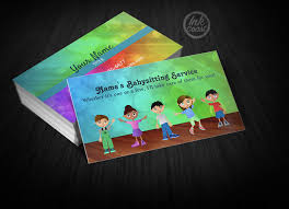 Colorful Playing Kids Business Cards Samples