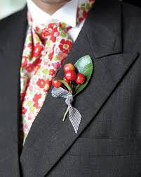 Image result for gray suit wedding with fall boutonniere
