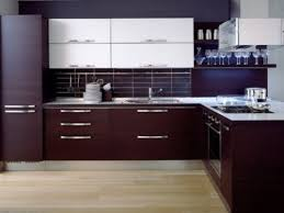 Dark Kitchen Cabinets Colors Tile Backsplash With Brown For Decor