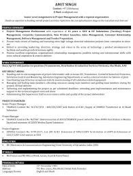 Project Manager Resume Samples Sample Resume For It Project With