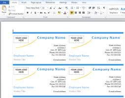 how to create business cards in word create business card in word 8399
