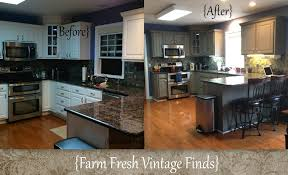 general finishes milk paint kitchen cabinetsPainting Thermofoil Kitchen Cabinets the Big Reveal  Farm