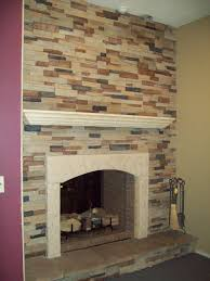 Indoor Fake Fireplace Articles With Fake River Rock For Fireplaces Tag Rock For