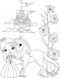 Immagini Unicorno Da Stampare Bella Principessa E Lunicorno Da
