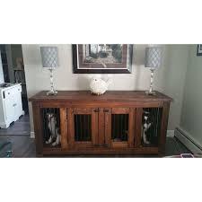 pet crate furniture. double canine console pet crate furniture