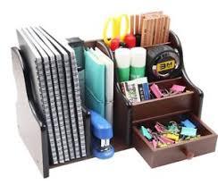 Image is loading Wooden-Desk-Organizer -Office-Supplies-Accessories-Storage-Drawer-