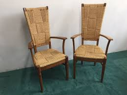 Vintage high back chair Velvet Vintage High Back Chairs By Audouxminet Set Of Pamono Vintage High Back Chairs By Audouxminet Set Of For Sale At Pamono
