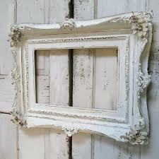 distressed white frame large white vintage picture frame distressed white frame hand painted chic chalky white distressed white frame