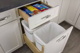 wastebasket cabinet pull out storage