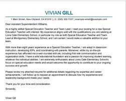 Special Education Cover Letter Examples If You Re Applying For A