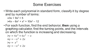 factored form to standard form calculator math some exercises write each polynomial in standard form classify it by degree and by number math calculator
