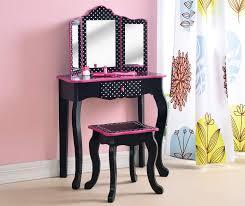 vanity set with mirror stool