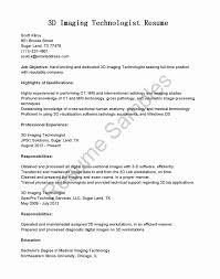 Radiologic Technologist Resume Inspirational Cover Resume Letter