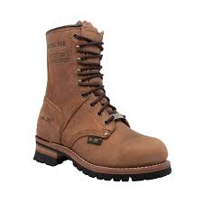 Designer Steel Toe Boots Adtec Womens Brown 9in Steel Toe Logger Leather Work Boots