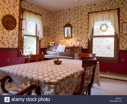 Dining Room Early American Decor PA USA Stock Photo Royalty - Early american dining room furniture