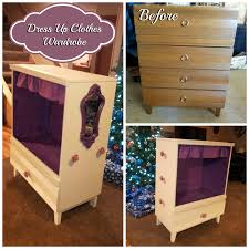 Diy Dress Up Storage Dress Up Clothes Wardrobe My Husband And I Turned This Old