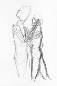 Pencil Sketches Of Couples Couple Pencil Sketch Stock Illustrations 929 Couple Pencil