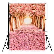 Cherry Blossom Backdrop Cherry Blossom Grove Forest Theme Photography Vinyl Backdrop Studio Background 2 X 1 5m 1 5 X 0 9m