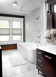 bathroom vintage black and white bathroom ideas smooth gray wall paint ceramic floor tile sophisticated