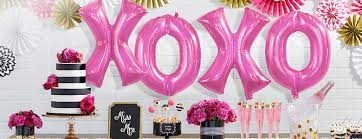 directory banner letter balloons pink