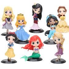 11 15cm Q Posket <b>Princess</b> Figure Mulan Snow White Mermaid Ariel ...