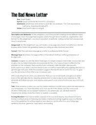 Sample Layoff Letter Bad News Letter Sample For Employee Employee Newsletter