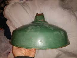 Green Porcelain Barn Light Vintage 16 Green Porcelain Enamel Lamp Shade Industrial Gas