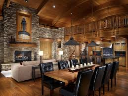 Interior  Interior Log Homes Design December St Fireplace - Model homes interior design