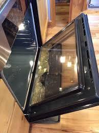 during the process the inner middle glass shattered can one use the self cleaning option on a bosch or is that just to make the