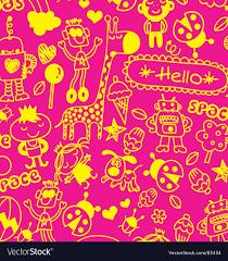doodle wallpaper vector image
