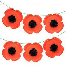 Make A Paper Poppy Flower Paper Plate Poppy Bunting Free Craft Ideas Baker Ross