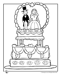 Small Picture Wedding Coloring Pages Wedding Cake Coloring Page Fantasy Jr