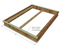 Interesting Platform Bed Plans with Ana White Chestwick Platform Bed