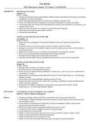 Beverage Manager Resume Samples Velvet Jobs