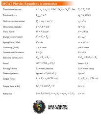 mcat physics equations sheet the gold standard mcat prep mcat prep