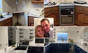 Savvy homeowner gives drab kitchen a <b>chic</b> make-over for £<b>180</b> in ...