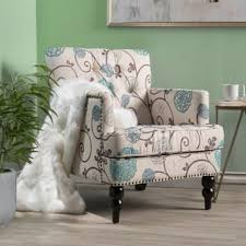 living room accent chairs. Simple Accent Harrison Floral Fabric Tufted Club Chair By Christopher Knight Home And Living Room Accent Chairs R