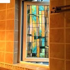 stained glass stickers window sliding door bathroom opaque paper for front doors