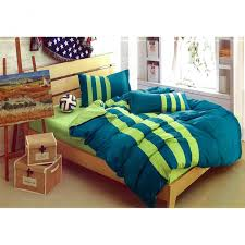 mk curtain striped bedding set king dark blue light green stripes