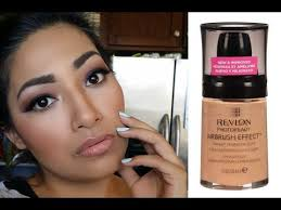 makeup new revlon photoready airbrush effect foundation golden beige first impressions full day wear review you revlon