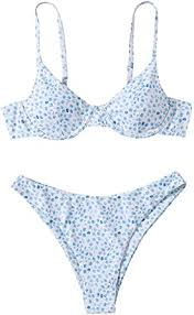Amazon.com: SweatyRocks Women's Sexy Bathing Suits Spaghetti ...