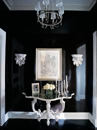 lacquered furniture. Elegant Black Floor Hallway Photo In Chicago With Walls Lacquered Furniture
